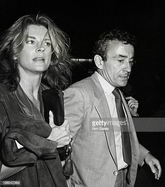 Candice Bergen and Louis Malle during '42nd Street' Performance October 8 1980 at Winter Garden Theater in New York New York United States
