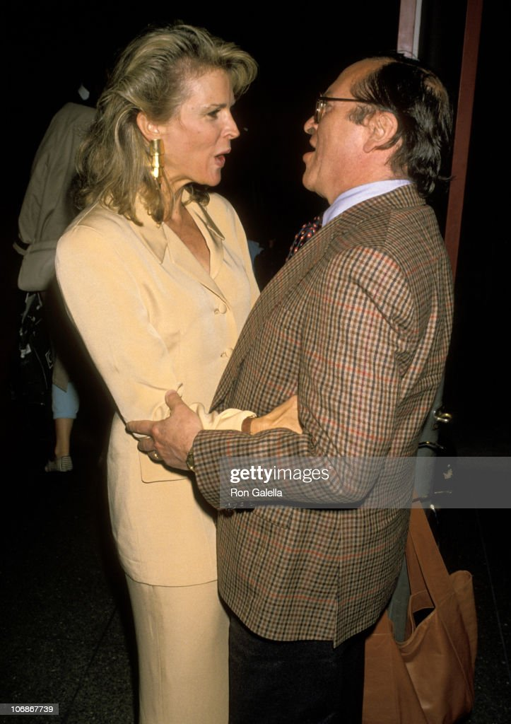 Candice Bergen and Sidney Lumet during Screening of 'Milou in May' June 12 1990 at Paris Theater in New York City New York United States