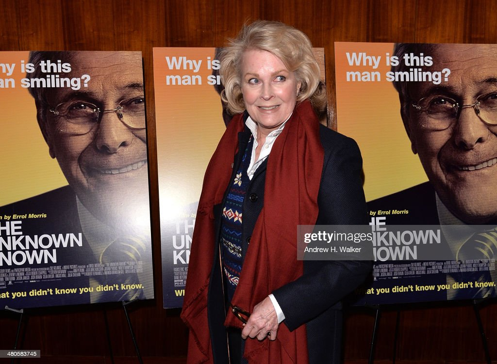 <a gi-track='captionPersonalityLinkClicked' href=/galleries/search?phrase=Candice+Bergen&family=editorial&specificpeople=210591 ng-click='$event.stopPropagation()'>Candice Bergen</a> attends the 'The Unknown Known' screening at Museum of Art and Design on March 25, 2014 in New York City.
