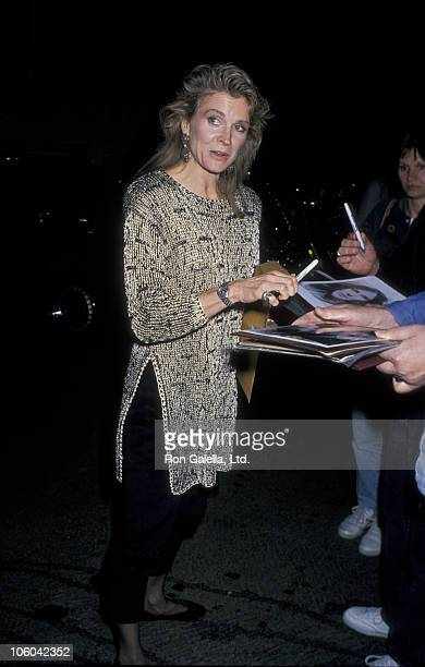 Candice Bergen during Candice Bergen at Spago's in Hollywood February 5 1988 at Spago's in Hollywood California United States