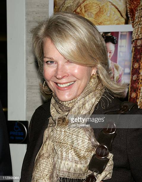 Candice Bergen during 'Curse of the Golden Flower' New York City Premiere Arrivals at Alice Tulley Hall Lincoln Center in New York City New York...
