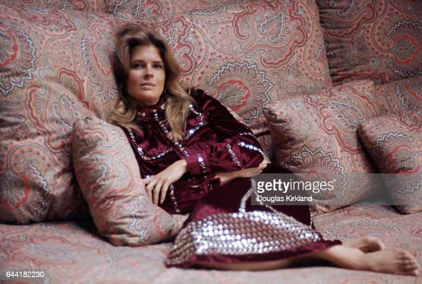 Candice Bergen Resting on Pillows