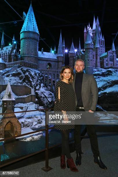 Candice Brown and Liam Macaulay attend the VIP launch of 'Hogwarts In The Snow' at Warner Bros Studio Tour London The Making Of Harry Potter on...