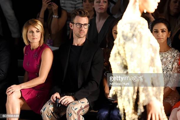 Candice Cameron Bure Brad Goreski Cara Santana and Nazanin Boniadi attend the Jenny Packham fashion show during New York Fashion Week The Shows at...