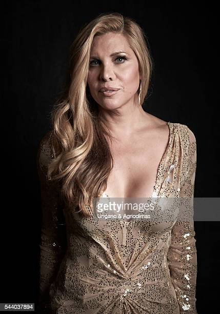 Candice Cayne poses for a portrait at Logo's 'Trailblazer Honors' on June 23 in the Cathedral of St John the Divine in New York City