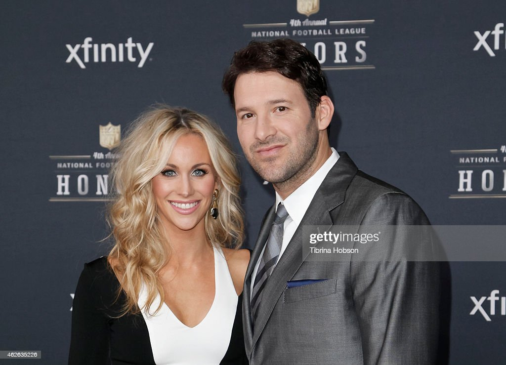 <a gi-track='captionPersonalityLinkClicked' href=/galleries/search?phrase=Candice+Crawford&family=editorial&specificpeople=5127745 ng-click='$event.stopPropagation()'>Candice Crawford</a> and Dallas Cowboys quarterback <a gi-track='captionPersonalityLinkClicked' href=/galleries/search?phrase=Tony+Romo&family=editorial&specificpeople=756503 ng-click='$event.stopPropagation()'>Tony Romo</a> attends the 4th Annual NFL Honors at Phoenix Convention Center on January 31, 2015 in Phoenix, Arizona.