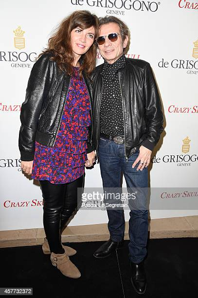 Candice De La Richardiere and Philippe Manoeuvre attend the launch of the De Grisogono 'Crazy Skull' watch on October 23 2014 in Paris France