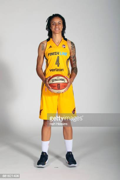 Candice Dupree of the Indiana Fever poses for a portrait during Media Day at Bankers Life Fieldhouse on May 9 2017 in Indianapolis Indiana NOTE TO...