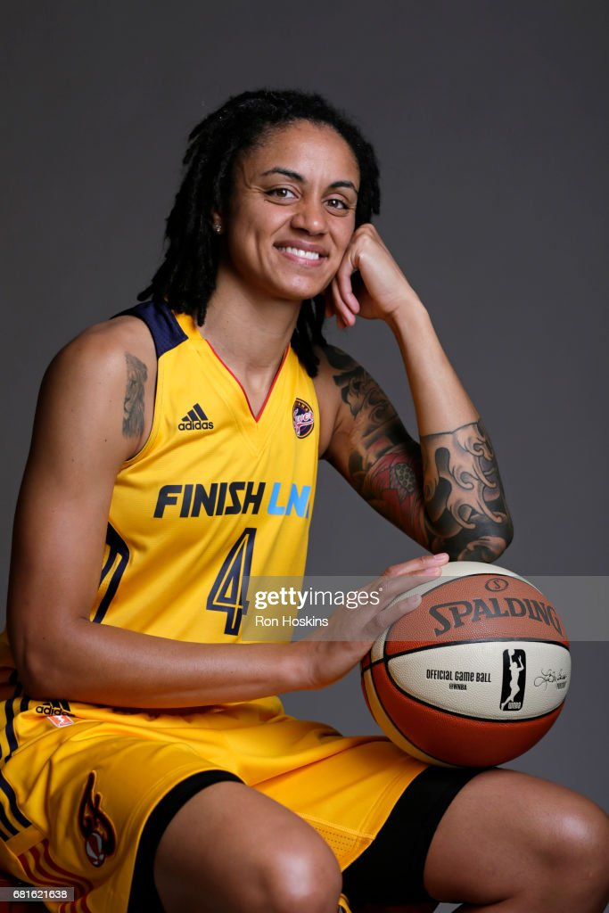 Candice Dupree #4 of the Indiana Fever poses for a portrait during Media Day at Bankers Life Fieldhouse on May 9, 2017 in Indianapolis, Indiana.
