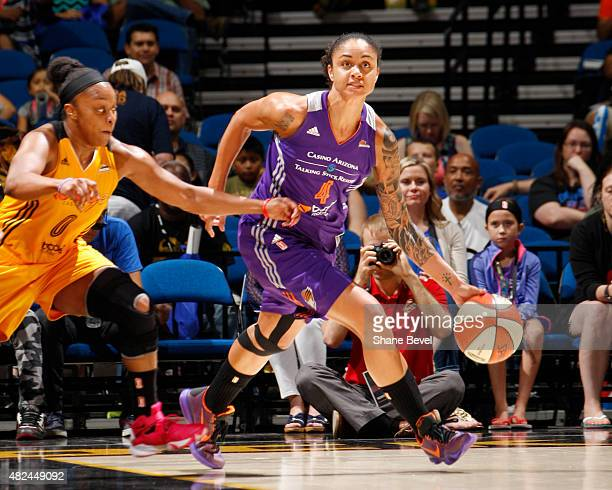 Candice Dupree of the Phoenix Mercury handles the ball against the Tulsa Shock on July 30 2015 at the BOK Center in Tulsa Oklahoma NOTE TO USER User...