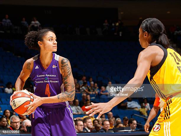 Candice Dupree of the Phoenix Mercury handles the ball against the Tulsa Shock on August 18 2015 at the BOK Center in Tulsa Oklahoma NOTE TO USER...