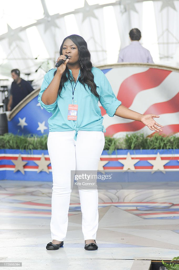 Candice Glover performs during a rehearsal for the 'A Capitol Fourth 2013 Independence Day Concert' on the West Lawn of the US Capitol on July 3, 2013 in Washington, DC.