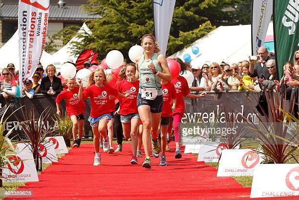 Candice Hammond of Cambridge races to victory during Challenge Wanaka on January 18 2014 in Wanaka New Zealand