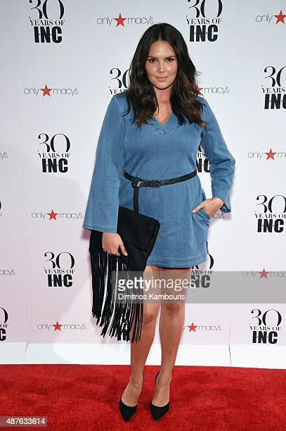 Candice Huffine attends Heidi Klum Gabriel Aubry's celebration of the launch of INC's 30th Anniversary Collection at IAC Building on September 10...