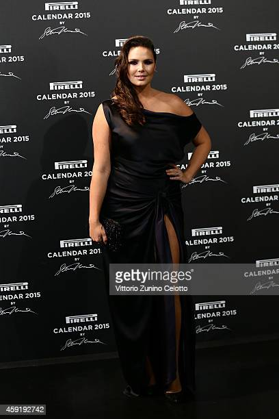 Candice Huffine attends the 2015 Pirelli Calendar Red Carpet on November 18 2014 in Milan Italy