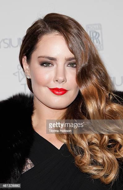 Candice Huffine attends the Art of Elysium and Samsung Galaxy Marina Abramovic's HEAVEN Gala at Hangar 8 on January 10 2015 in Santa Monica California