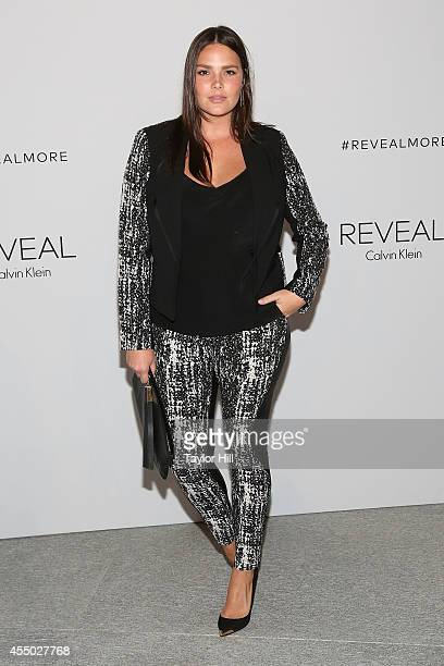 Candice Huffine attends the REVEAL Calvin Klein Fragrance Launch Party at 4 World Trade Center on September 8 2014 in New York City