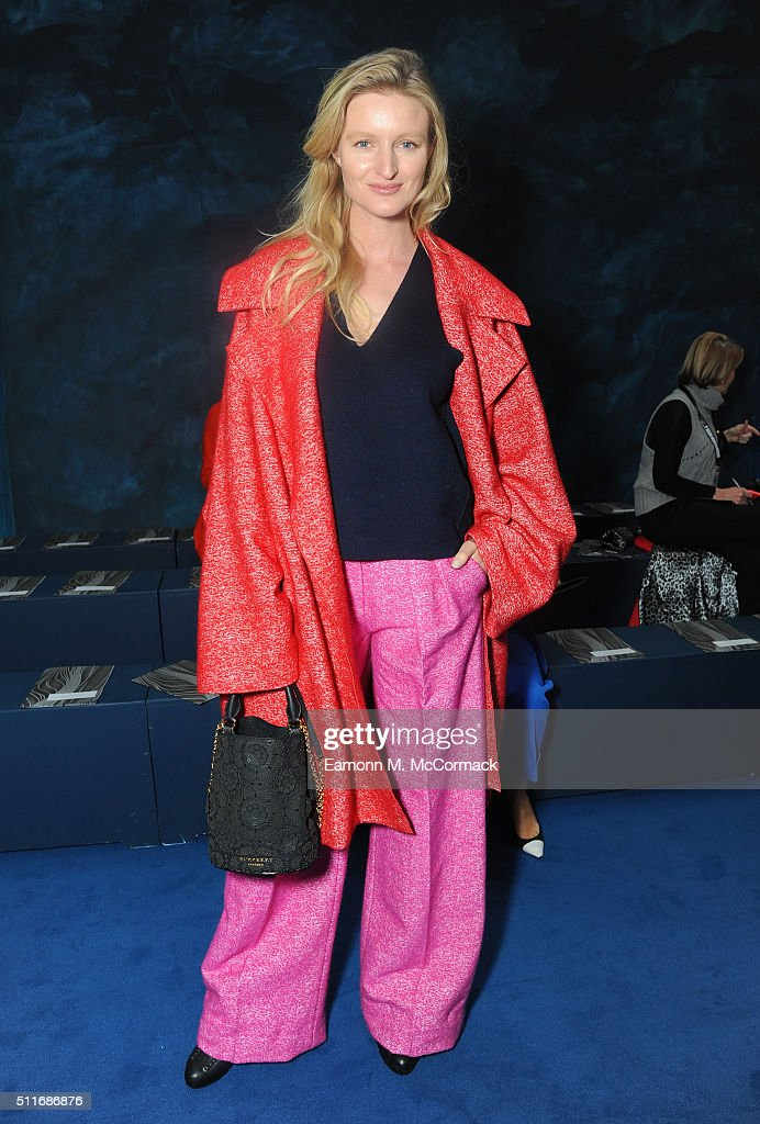 Candice Lake attends the Roksanda show during London Fashion Week Autumn/Winter 2016/17 at on February 22, 2016 in London, England.