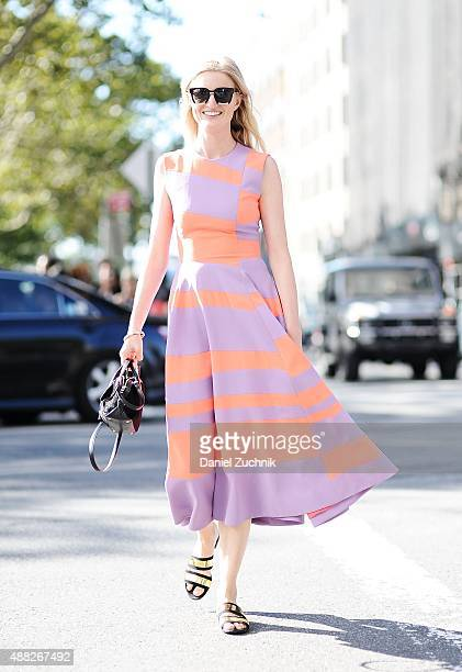 Candice Lake is seen outside the 31 Phillip Lim show a Roksanda dress during New York Fashion Week 2016 on September 14 2015 in New York City