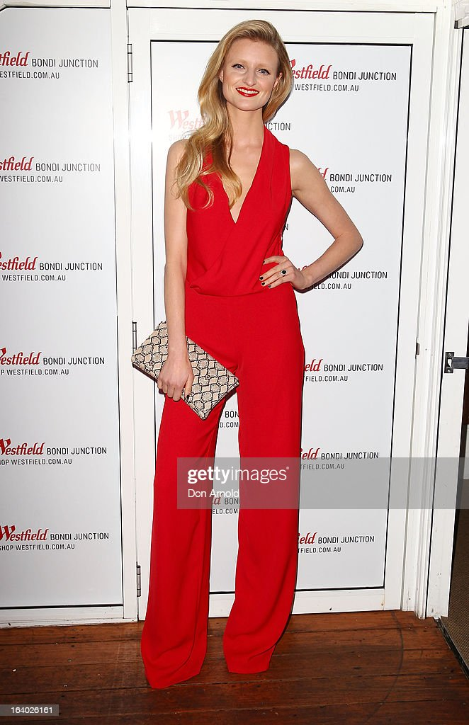 Candice Lake poses at the Westfield Autumn/Winter 2013 launch at Pelicano Bar on March 19, 2013 in Sydney, Australia.