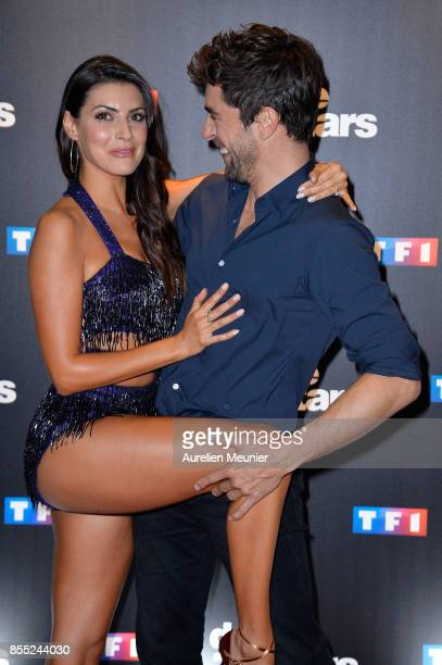 Candice Pascal and Augustin Galiana attend the 'Danse avec les Stars' photocall at TF1 on September 28 2017 in Paris France