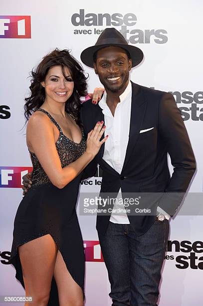 Candice Pascal and Corneille attend the 'Danse Avec Les Stars 2014' Photocall at TF1 on September 10 2014 in Paris France