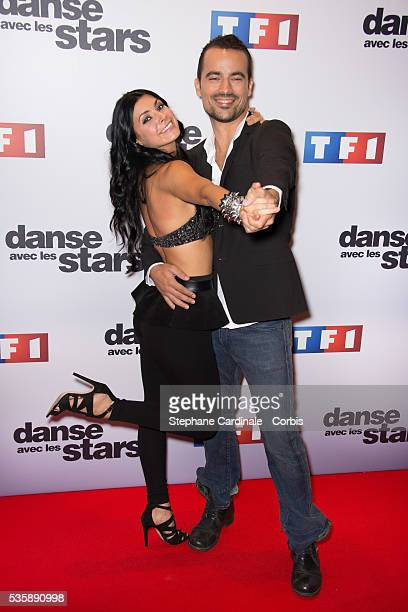 Candice Pascal and Damien Sargue attend the 'Danse Avec Les Stars' season 4 photocall at TF1 in Paris