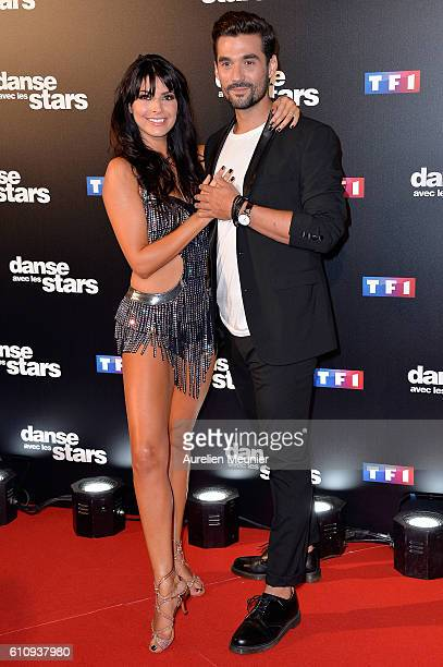Candice Pascal and Florent Mothe pose during the 'Danses With The Stars' photocall on September 28 2016 in Paris France