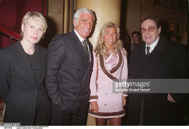 Candice Patou Paul Belmondo Natty Belmondo Robert Hossein at theParis Theatre Production Of Le Mari La Femme Et L'Amant
