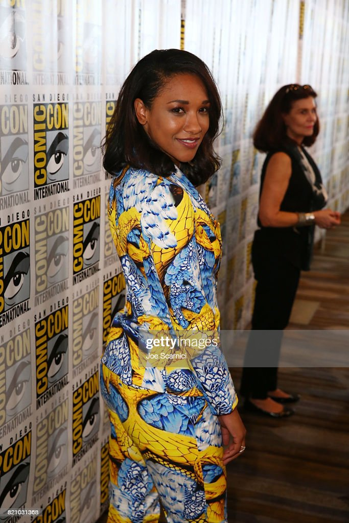 Candice Patton arrives at 'The Flash' press line at Comic-Con International 2017 on July 22, 2017 in San Diego, California.
