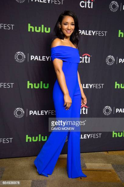 Candice Patton attends PaleyFest LA at the Dolby Theatre on March 18 2017 in the Hollywood section of Los Angeles California / AFP PHOTO / DAVID MCNEW