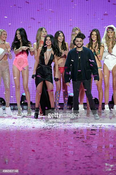Candice Swanepoel Adriana Lima Behati Prinsloo Lily Aldridge Romee Strijd Alessandra Ambrosio Kate Grigorieva Singer Selena Gomez and Singer The...
