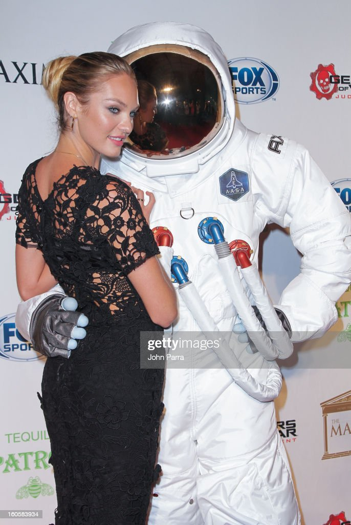 Axe Astronaut And Candice Swanepoel At The Super Bowl ...