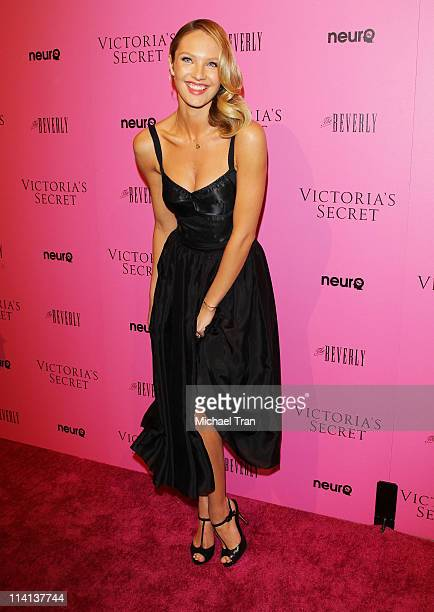 Candice Swanepoel arrives at Victoria's Secret 6th Annual 'What Is Sexy List Bombshell Summer Edition' event held at The Beverly on May 12 2011 in...