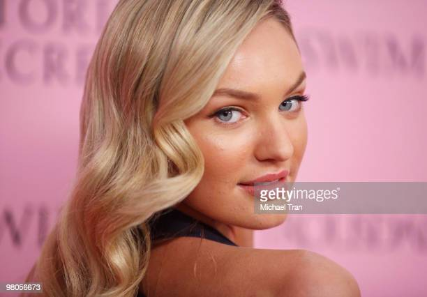 Candice Swanepoel arrives to Victoria's Secret celebrates the 15th Anniversary of the Swim catalogue party held at Trousdale on March 25 2010 in West...