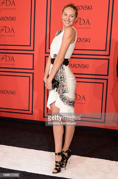 Candice Swanepoel attends 2013 CFDA Fashion Awards at Alice Tully Hall on June 3 2013 in New York City