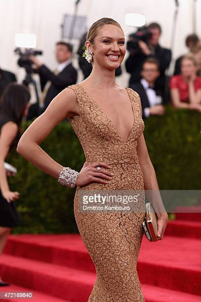 Candice Swanepoel attends the 'China Through The Looking Glass' Costume Institute Benefit Gala at the Metropolitan Museum of Art on May 4 2015 in New...