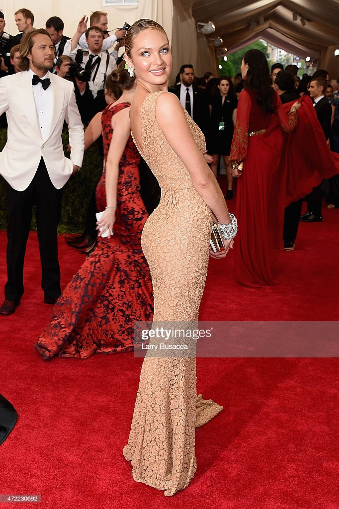 <a gi-track='captionPersonalityLinkClicked' href=/galleries/search?phrase=Candice+Swanepoel&family=editorial&specificpeople=4357958 ng-click='$event.stopPropagation()'>Candice Swanepoel</a> attends the 'China: Through The Looking Glass' Costume Institute Benefit Gala at the Metropolitan Museum of Art on May 4, 2015 in New York City.