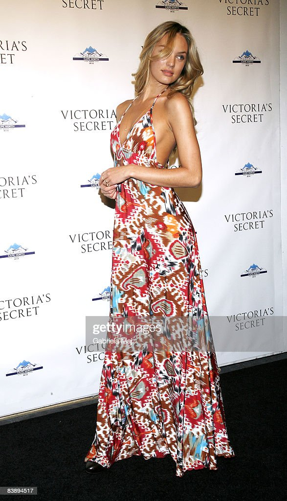 Candice Swanepoel attends the grand opening cocktail party for the new Victoria Secret Lexington Avenue Flagship Store on December 2 2008 in New York...