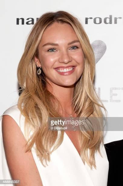 Candice Swanepoel attends the Narciso Rodriguez Bottletop Collection x Pepsi US Launch at Sikkema Jenkins And Co Gallery on May 8 2014 in New York...