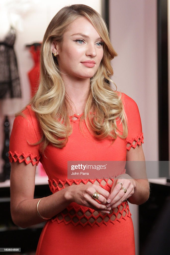 Candice Swanepoel attends Victoria's Secret Angels celebrate Valentine's Day with fans at Victoria's Secret, Herald Square on February 6, 2013 in New York City.