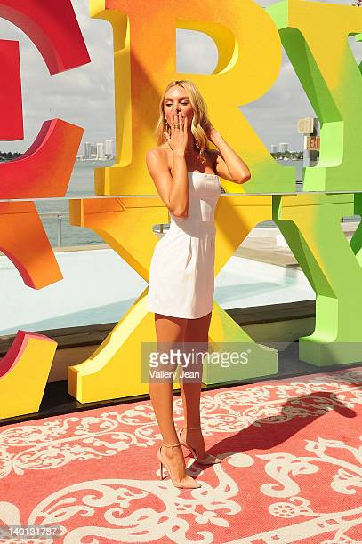 Candice Swanepoel attends Victoria's Secret Angels Very Sexy Jet Tour on February 28 2012 in Miami Beach United States