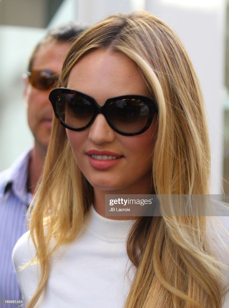 Candice Swanepoel is seen at The Grove on March 12, 2013 in Los Angeles, California.
