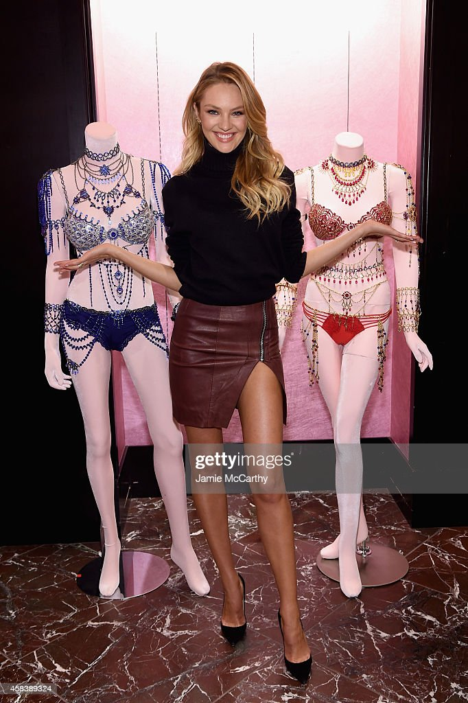 <a gi-track='captionPersonalityLinkClicked' href=/galleries/search?phrase=Candice+Swanepoel&family=editorial&specificpeople=4357958 ng-click='$event.stopPropagation()'>Candice Swanepoel</a> Shares Victoria's Secret Holiday Gift Picks on November 4, 2014 in New York City.