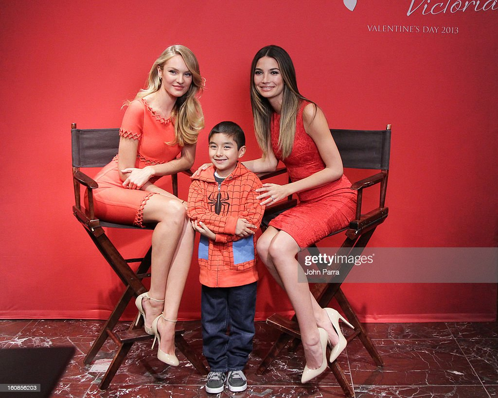 <a gi-track='captionPersonalityLinkClicked' href=/galleries/search?phrase=Candice+Swanepoel&family=editorial&specificpeople=4357958 ng-click='$event.stopPropagation()'>Candice Swanepoel</a> ,VS fans and <a gi-track='captionPersonalityLinkClicked' href=/galleries/search?phrase=Lily+Aldridge&family=editorial&specificpeople=2110490 ng-click='$event.stopPropagation()'>Lily Aldridge</a> attend Victoria's Secret Angels celebrate Valentine's Day with fans at Victoria's Secret, Herald Square on February 6, 2013 in New York City.