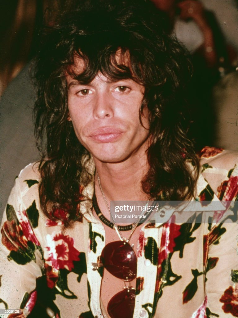 Candid headshot portrait of American singer Steven Tyler of Aerosmith at a luncheon for the film Sgt Pepper's Lonely Hearts Club Band England 1978