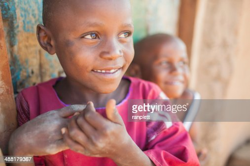 Candid Portrait of African Children