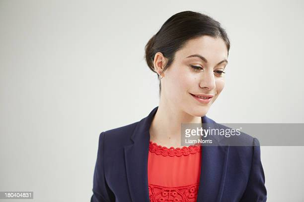 Candid portrait of businesswoman