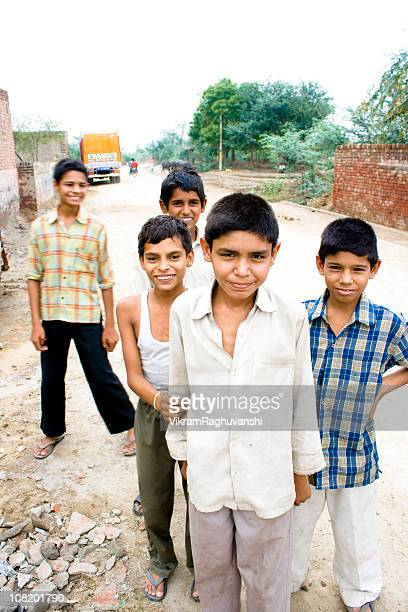 Candid portrait of Rural Indian Children on the Streets