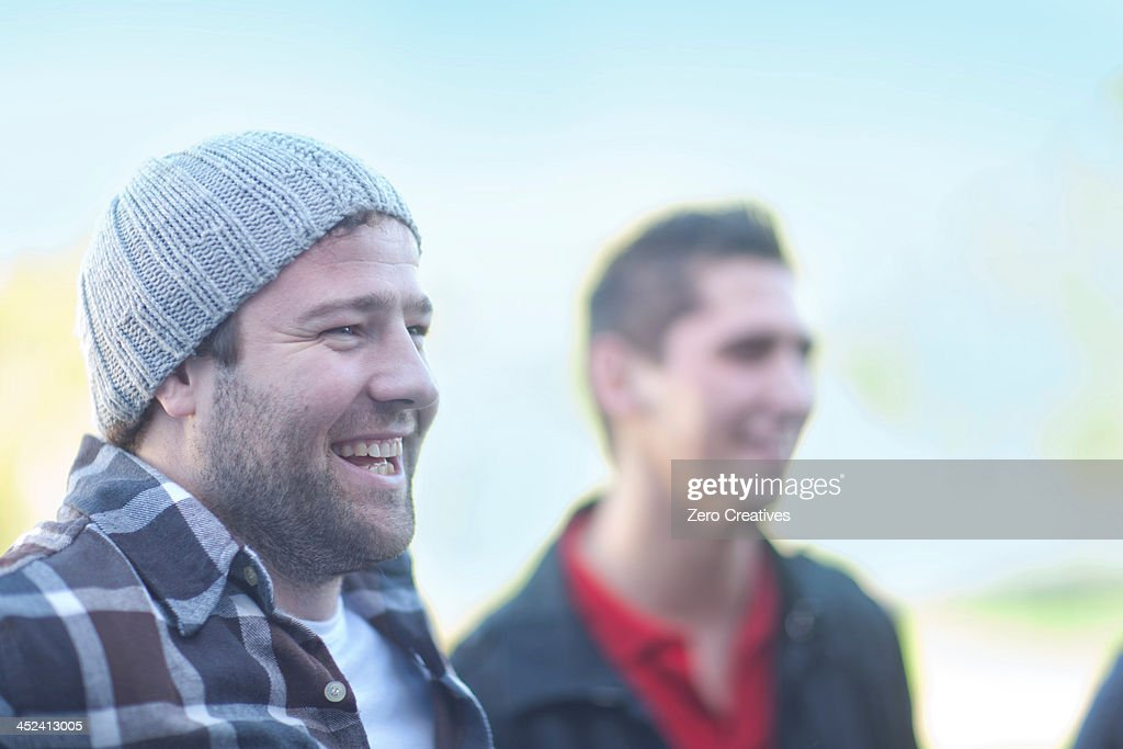 Candid portrait of two young men